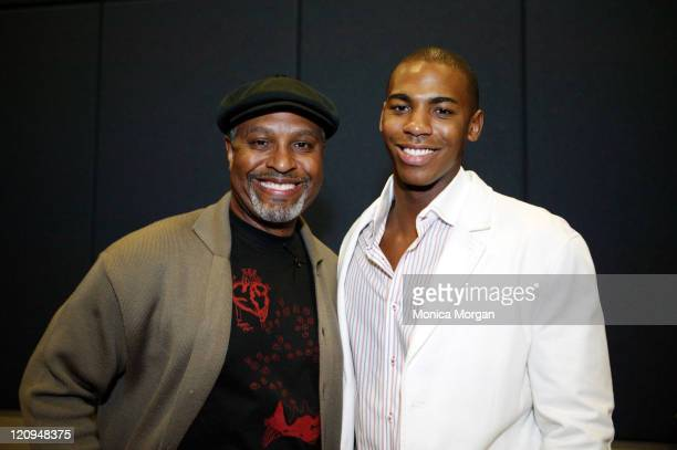 James Pickens Jr and Mehcad Brooks during NAACP Diversity Symposium February 25 2006 at Shrine Auditorium in Los Angeles California United States