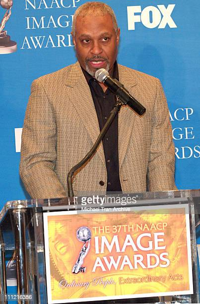 James Pickens Jr during 37th Annual NAACP Award Nominations Press Conference at The Peninsula Beverly Hills in Beverly Hills California United States