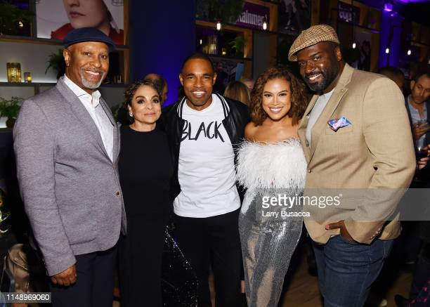 James Pickens Jr Jasmine Guy Jason George Toni Trucks and Stephen Hill attend the Entertainment Weekly PEOPLE New York Upfronts Party on May 13 2019...