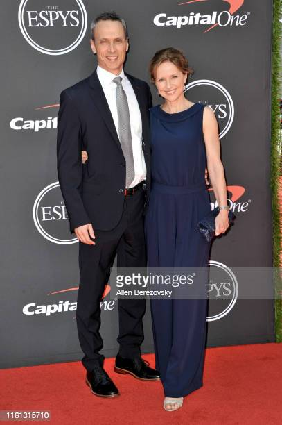 James Pitaro and Jean Louisa Kelly attend the 2019 ESPY Awards at Microsoft Theater on July 10 2019 in Los Angeles California