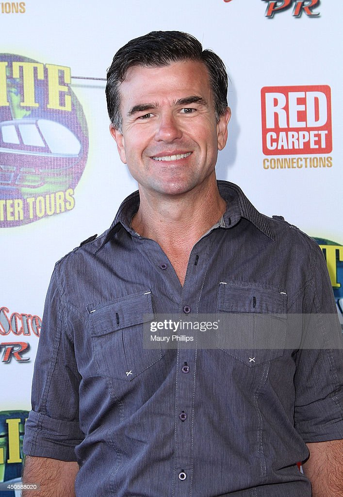 James Pitt arrives at Lorenzo Lamas' New Business Elite Helicopter launch party at the Van Nuys Airport on June 13, 2014 in Van Nuys, California.