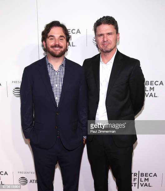 James Ponsoldt and Dave Eggers attend the 2017 Tribeca Film Festival 'The Circle' at BMCC Tribeca PAC on April 26 2017 in New York City