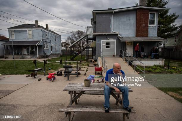 James Proffit smokes a cigarette at Sojourner Recovery's campus on Wednesday April 3 in Hamilton OH Proffit has overdosed four times on fentanyl but...