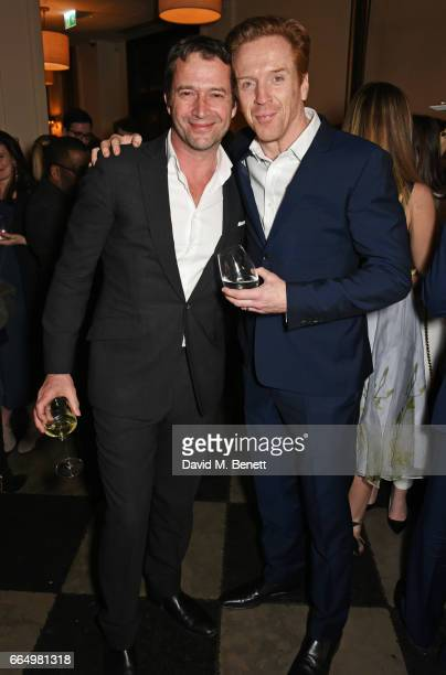 James Purefoy and cast member Damian Lewis attend the press night after party for Edward Albee's The Goat Or Who Is Sylvia at Villandry on April 5...