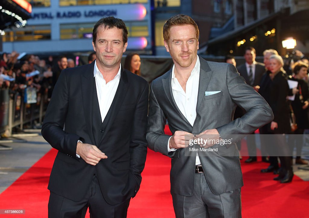 James Purefoy and Damian Lewis attend a screening of 'A Little Chaos' during the 58th BFI London Film Festival at Odeon West End on October 17, 2014 in London, England.