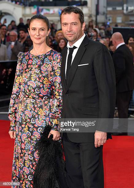 James Purefoy and Jessica Adams attend a screening of High Rise during the BFI London Film Festival at Odeon Leicester Square on October 9 2015 in...