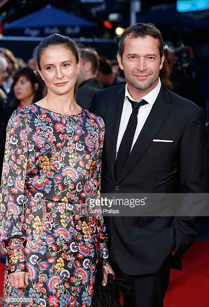 James Purefoy and Jessica Adams attend the HighRise Screening during the BFI London Film Festival at Odeon Leicester Square on October 9 2015 in...
