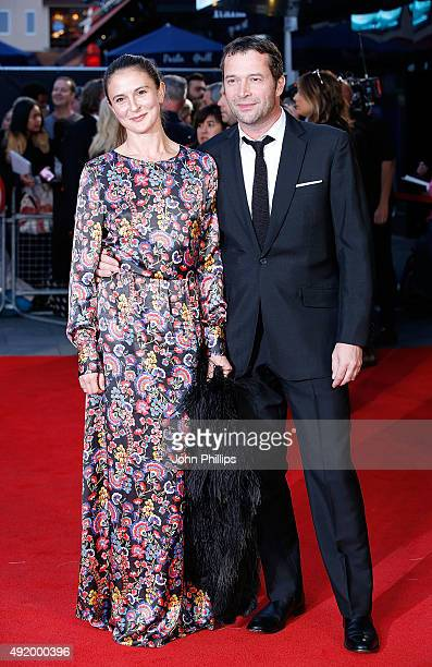 James Purefoy and Jessica Adams attend the High-Rise Screening, during the BFI London Film Festival, at Odeon Leicester Square on October 9, 2015 in...
