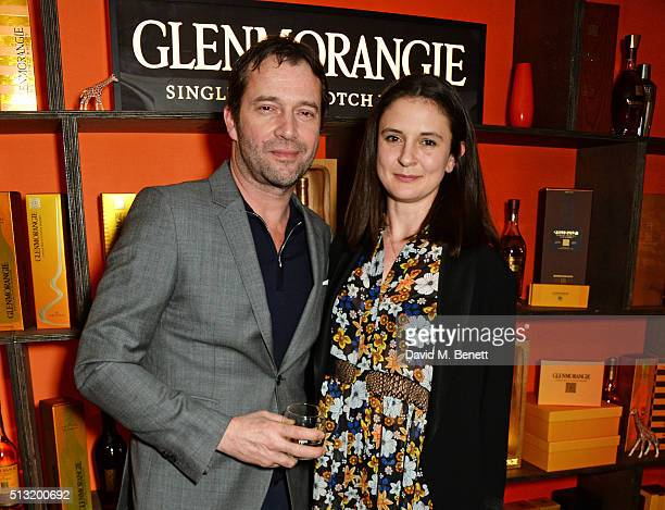 James Purefoy and Jessica Adams attend the launch of Glenmorangie and Finlay Co collaboration 'Beyond the Cask' on March 1 2016 in London England