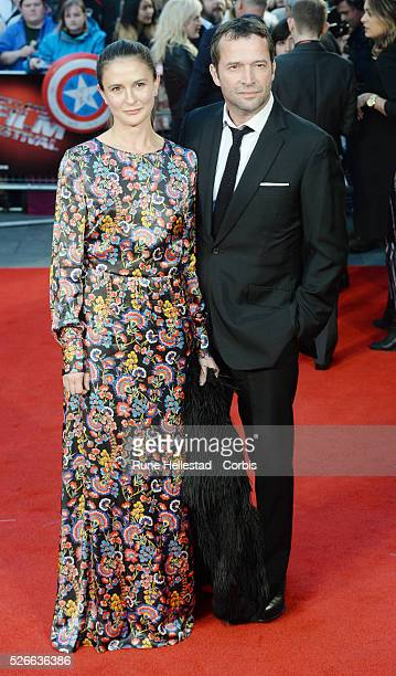 James Purefoy and Jessica Adams attend the premiere of High Rise at London Film Festival at Odeon, Leicester Square.