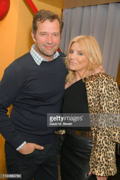 James Purefoy and Michelle Collins attend World Book Night at The h Club on April 23, 2019 in London, England.