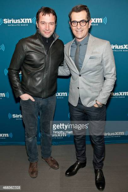 James Purefoy and Ty Burrell visit the SiriusXM Studios on February 10 2014 in New York City