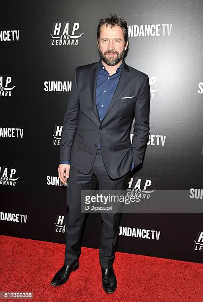 James Purefoy attends 'Hap and Leonard' Private Premiere Party at Hill Country BBQ on February 25 2016 in New York City