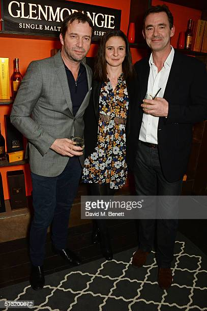 James Purefoy Jessica Adams and Richard Lintern attend the launch of Glenmorangie and Finlay Co collaboration 'Beyond the Cask' on March 1 2016 in...