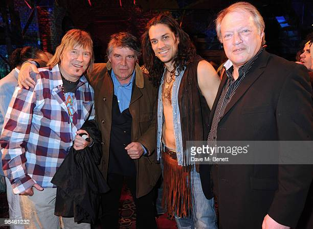 James Rado, Oliver Tobias, Will Swenson and Gary Hamilton attend the press night of Hair at the Gieldgud Theatre on April 14, 2010 in London, England.
