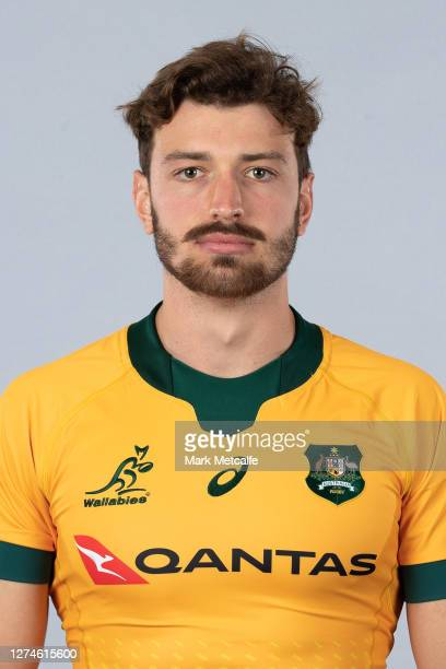 James Ramm poses during the Australian Wallabies rugby team headshots session at the Crowne Plaza on September 21 2020 in the Hunter Valley Australia