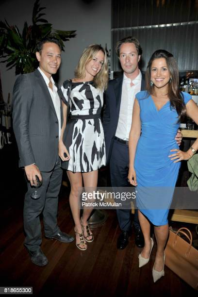 James Ramsey Jennifer Blumin Tom Trobridge and Gigi Stone attend Screening and Dinner of MARSHALL CURRY's Documentary RACING DREAMS at Core Club on...