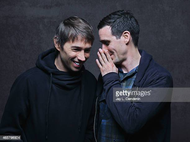 James Ransone and Sean Baker from the film 'Tangerine' pose for a portrait for the Los Angeles Times at the 2015 Sundance Film Festival on January 24...