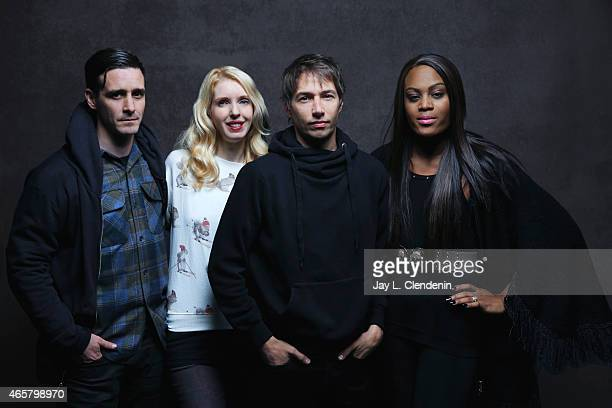 James Ransone May Taylor Mickey O'Hagan and Sean Baker from the film 'Tangerine' pose for a portrait for the Los Angeles Times at the 2015 Sundance...