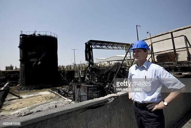 James Rawley United Nations' humanitarian coordinator for the Palestinian territories visits a power plant supplying electricity to the Gaza Strip...