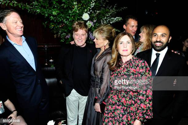 James Redford Robert Redford Jane Fonda Finola Dwyer Scott Stuber Shauna Redford and Ritesh Batra attend Netflix hosts the after party for the New...