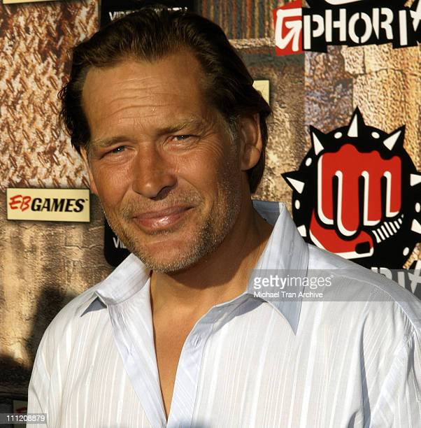 James Remar during GPhoria 2005 The Mother of All Videogame Award Shows Arrivals at Los Angeles Center Studios in Los Angeles California United States