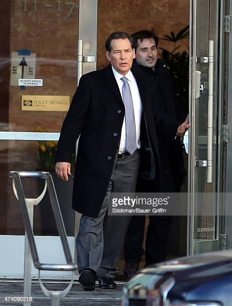 James Remar is seen leaving the set of the Hatfields McCoys on March 24 2013 in Boston Massachusetts