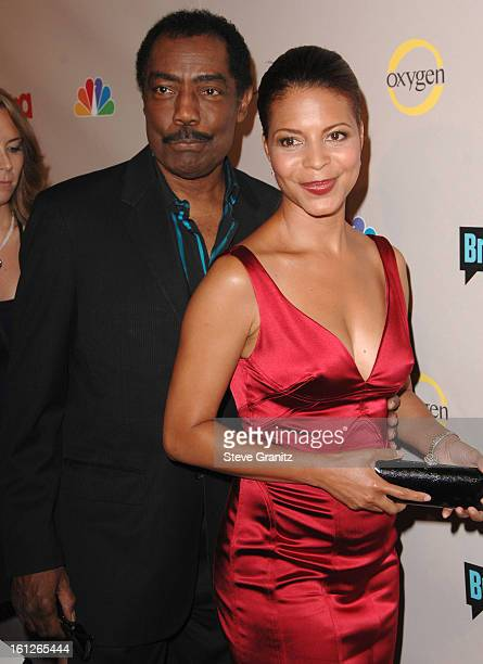 James Reynolds and Renee Jones arrives at the NBC Universal 2008 Press Tour AllStar Party at The Beverly Hilton Hotel on July 20 2008 in Beverly...