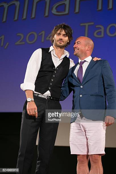 James Richardson and Giulio Berruti attends the 60th Taormina Film Fest on June 18 2014 in Taormina Italy