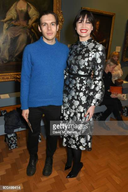 James Righton and Daisy Lowe attend the Erdem show during London Fashion Week February 2018 at National Portrait Gallery on February 19 2018 in...