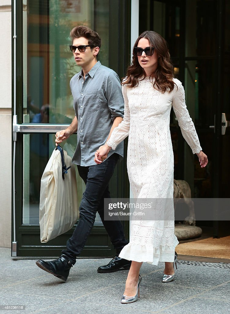 James Righton and Keira Knightley are seen in New York City on June 25, 2014 in New York City.