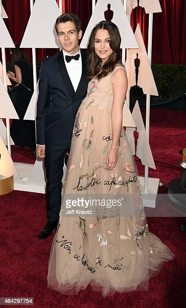 James Righton and Keira Knightley attend the 87th Annual Academy Awards at Hollywood Highland Center on February 22 2015 in Hollywood California
