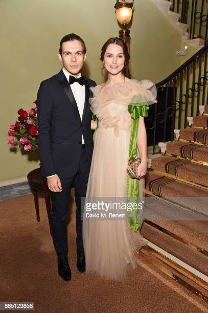James Righton and Keira Knightley attend the London Evening Standard Theatre Awards 2017 at the Theatre Royal Drury Lane on December 3 2017 in London...