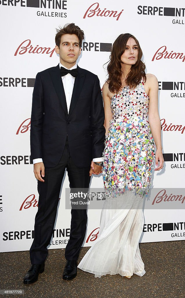 James Righton and Keira Knightley attend the The Serpentine Gallery summer party at The Serpentine Gallery on July 1, 2014 in London, England.