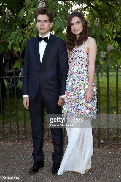 James Righton and Keira Knightley attends the annual Serpentine Galley Summer Party at The Serpentine Gallery on July 1 2014 in London England