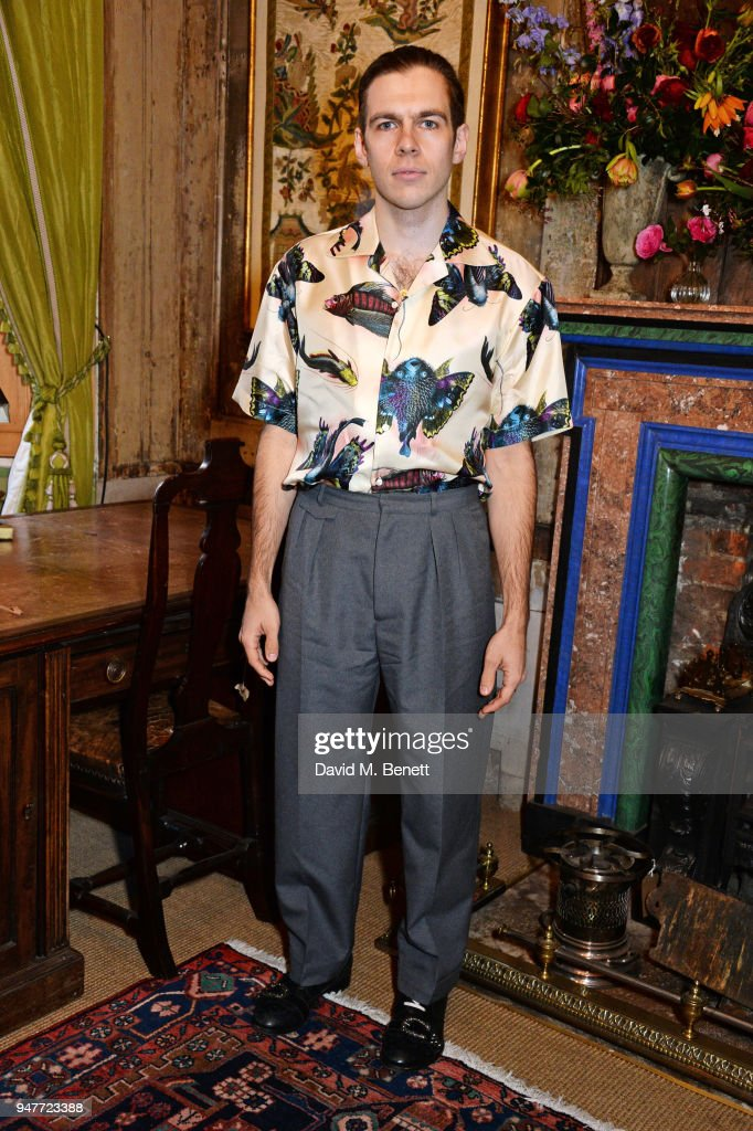 Gucci Hosts Dinner To Celebrate #GucciHallucination: A Limited Edition Line Featuring Artworks By Ignasi Monreal : News Photo