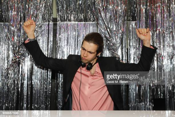 James Righton DJ's at the SelfPortrait store opening afterparty at Central St Martins on March 22 2018 in London England