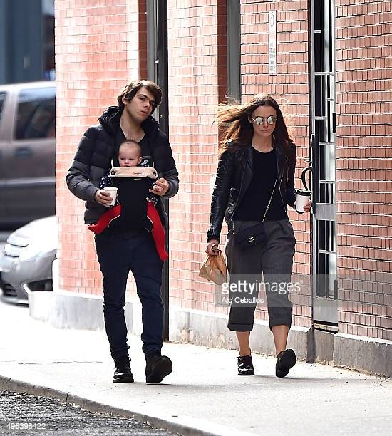 James Righton Keira Knightley and Edie Righton are seen in Tribeca on November 9 2015 in New York City