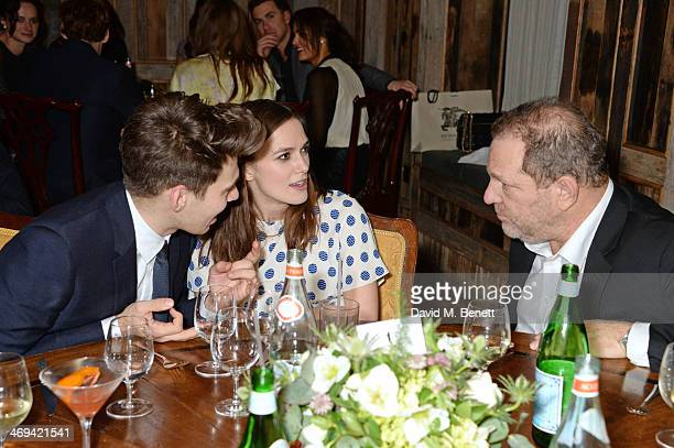 James Righton Keira Knightley and Harvey Weinstein attend Harvey Weinstein's preBAFTA dinner in partnership with Burberry and Grey Goose at Little...