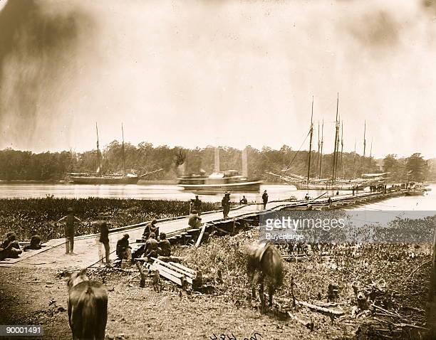 James River Pontoon Bridge during the Wilderness Campaign