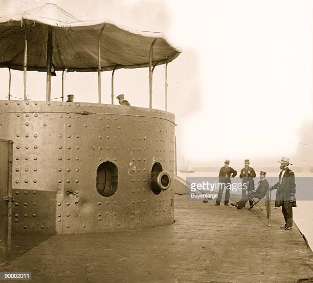 James River Va Deck and turret of USS Monitor seen from the bow