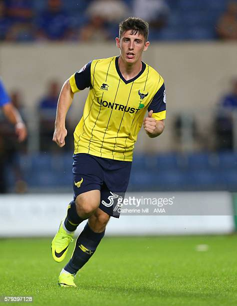 James Roberts of Oxford United during the PreSeason Friendly match between Oxford United and Leicester City at Kassam Stadium on July 19 2016 in...