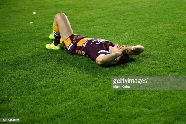 James Roberts of the Broncos looks dejected after defeat during the NRL Qualifying Final match between the Sydney Roosters and the Brisbane Broncos...