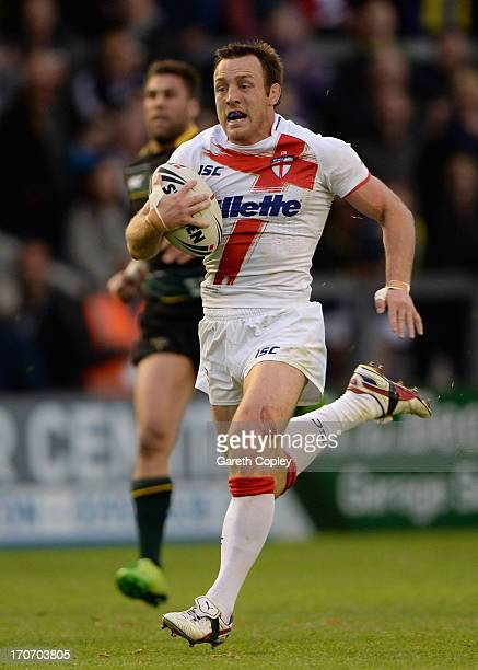James Roby during the International Origin Match between England and Exiles at The Halliwell Jones Stadium on June 14 2013 in Warrington England