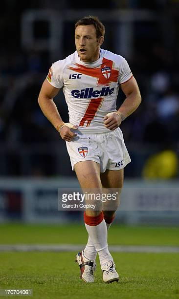 James Roby of England during the International Origin Match between England and Exiles at The Halliwell Jones Stadium on June 14 2013 in Warrington...