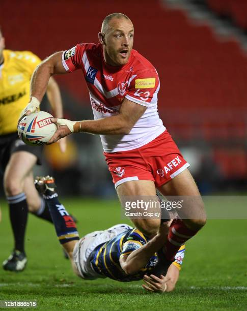 James Roby of St Helens during the Betfred Super League match between St Helens and Leeds Rhinos at Totally Wicked Stadium on October 23, 2020 in St...