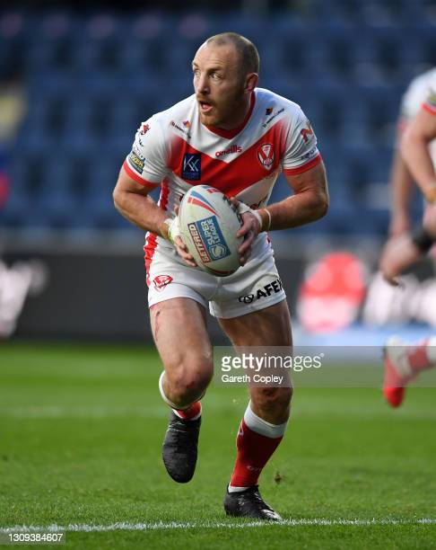 James Roby of St Helens during the Betfred Super League match between St Helens and Salford Red Devils at Emerald Headingley Stadium on March 26,...