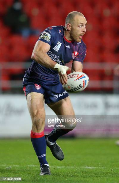 James Roby of St Helens during the Betfred Super League match between Hull Kingston Rovers and St Helens at Totally Wicked Stadium on April 01, 2021...