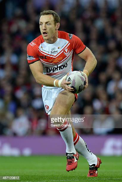James Roby of St Helens during the First Utility Super League Grand Final between St Helens and Wigan Warriors at Old Trafford on October 11 2014 in...