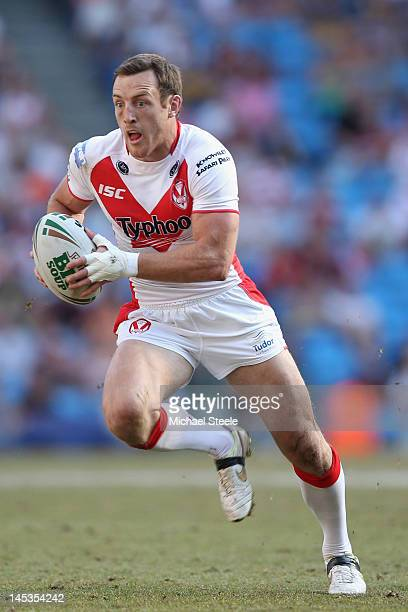 James Roby of St Helens during the Stobart Super League 'Magic Weekend' match between St Helens and Wigan Warriors at the Etihad Stadium on May 27...